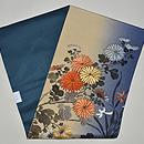 ぼかし地に菊の刺繍名古屋帯 帯裏