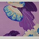 桜に菊蝶々文様名古屋帯 前中心