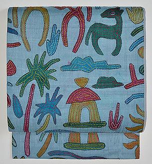 カンタワーク刺繍名古屋帯