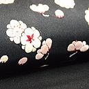 梅小花の刺繍名古屋帯  質感・風合