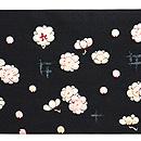 梅小花の刺繍名古屋帯  前中心