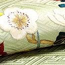 春秋の花の図名古屋帯  質感・風合