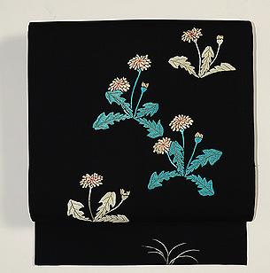 蒲公英の刺繍名古屋帯
