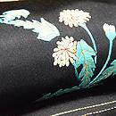 蒲公英の刺繍名古屋帯  質感・風合