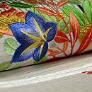虫籠と秋草の刺繍袋帯  質感・風合