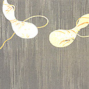 瓢箪の刺繍名古屋帯  前中心