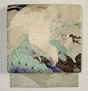 老松と鷹袋帯
