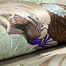 老松と鷹袋帯  質感・風合