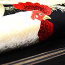 鶏とひよこの刺繍開き名古屋帯  質感・風合