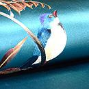 青い鳥の図名古屋帯  質感・風合