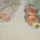 秋の花にメジロの図名古屋帯  前中心