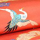 松梅に飛鶴文様袋帯  質感・風合