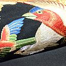 群れ鳥の綴れ袋帯  質感・風合