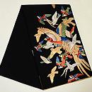 群れ鳥の綴れ袋帯  帯裏