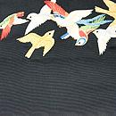 群れ鳥の綴れ袋帯  前中心