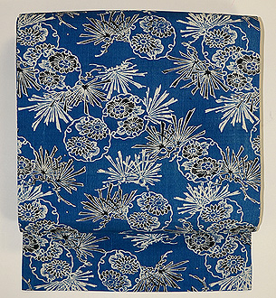 藍型染め名古屋帯