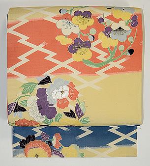 花の丸紋名古屋帯