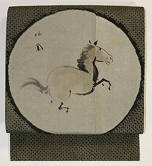 駿馬の図名古屋帯