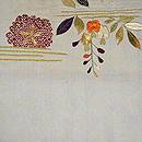 桜と藤の刺繍開き名古屋帯  前中心