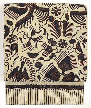 ロチャン絹更紗の名古屋帯