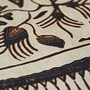 ロチャン絹更紗の名古屋帯 質感・風合
