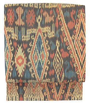 カリマンタン島縞絣布の名古屋帯