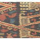カリマンタン島縞絣布の名古屋帯 前中心