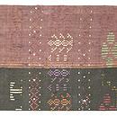 インドネシア蝶々模様紋織名古屋帯 前中心
