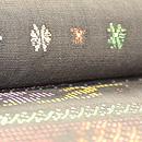 インドネシア蝶々模様紋織名古屋帯 質感・風合