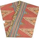 三角モチーフのインド更紗名古屋帯 帯裏
