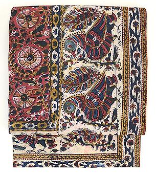 インド渡りペルシャ更紗の名古屋帯