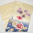 ぼかしに菊と紅葉刺繍名古屋帯 帯裏