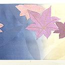 ぼかしに菊と紅葉刺繍名古屋帯 前中心
