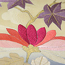 ぼかしに菊と紅葉刺繍名古屋帯 質感・風合