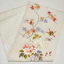 紅葉と牡丹刺繍名古屋帯 帯裏