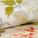 紅葉と牡丹刺繍名古屋帯 質感・風合