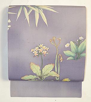 四季の花々染名古屋帯 その2