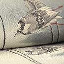 百舌鳥の図名古屋帯 質感・風合