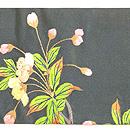 枝桜と鳥達の図刺繍名古屋帯 前中心
