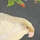枝桜と鳥達の図刺繍名古屋帯 質感・風合