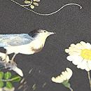 春の草花と鳥の図刺繍帯 質感・風合