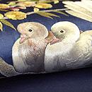 鳩と枝桜の図刺繍帯 質感・風合