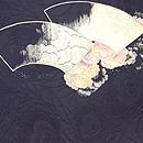 扇面に桜の浪刺繍袋帯 前中心