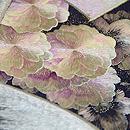 扇面に桜の浪刺繍袋帯 質感・風合