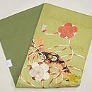 梅に篳篥(ひちりき)の刺繍名古屋帯 帯裏