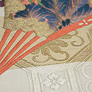 蜀江文に檜扇の刺繍名古屋帯 質感・風合