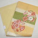 菊に梅の花丸紋名古屋帯 帯裏