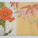 菊に梅の花丸紋名古屋帯 前中心