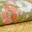 菊に梅の花丸紋名古屋帯 質感・風合