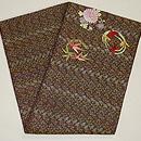 四君子刺繍丸帯 帯裏